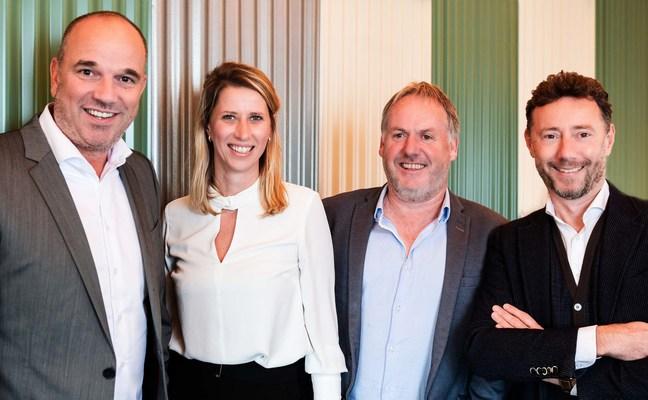 Left to right: Willem-Jan Nouwens, Samantha Catsburg, Michael Gottmer, Rudiger Wanck (PRNewsfoto/Candid)