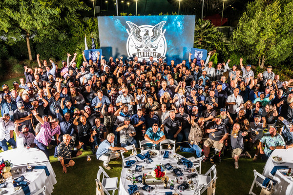 One of the WHOW tournament's highlights is the annual post-event group photo. Featuring a record-setting number of veterans, owners, captains and crews, this year's photo required significant height to ensure everyone could make it into the frame.