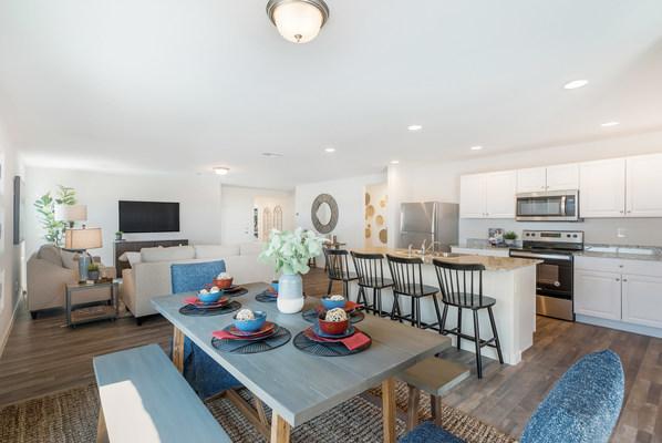 Century Complete model home great room | Paseo at Casa Vista in Casa Grande, AZ