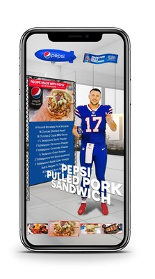 """Today, Pepsi launched its """"Made for Bills Watching"""" campaign, unlocking a unique digital AR experience for fans that brings their favorite quarterback Josh Allen into their homes to help take their pre-game food prep up a notch."""