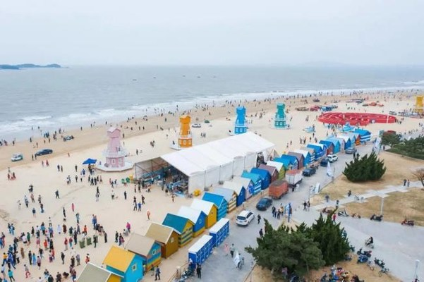 Yintan's Wind from the Sea Program is very popular with tourists (PRNewsfoto/The People's Government of Rushan)